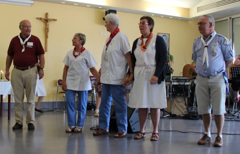Dominique, Myriam, Marie-Odile, Véronique et Charles