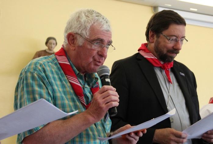 Abbé André Vervier et Mgr Jean-Pierre Delville