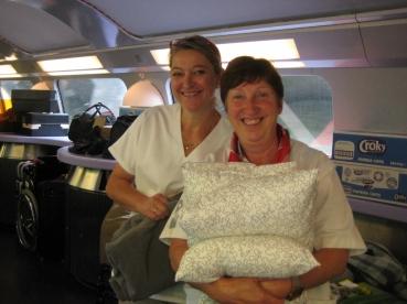 Muriel et Liliane au service des pèlerins !