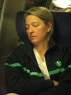 Dans le TGV, on dort...