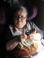 Dans le TGV, on tricote, aussi !