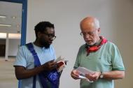 Les abbés Eric Ndeze et Baudouin Charpentier