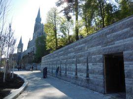 Lourdes 2017 - Aménagements autour de la Grotte