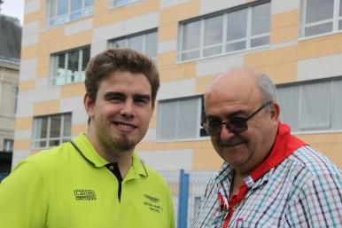 Gilles Collins et le Dr Emile Leunus
